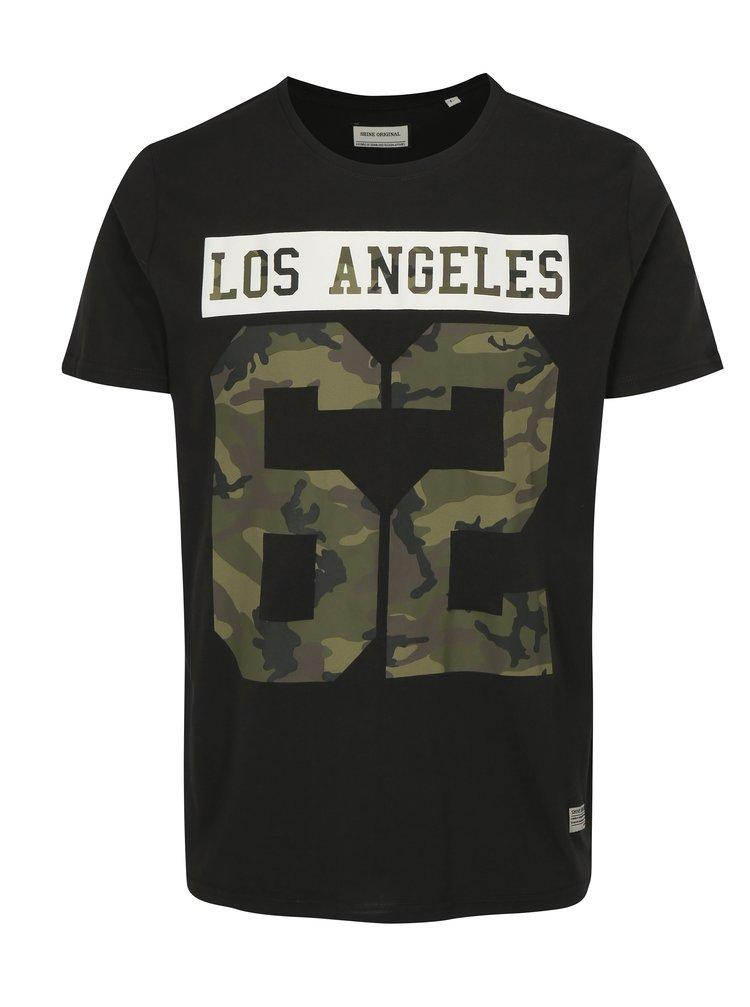 Černé tričko s potiskem Los Angeles Shine Original