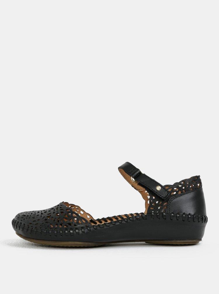 Černé kožené perforované sandály Pikolinos Vallarta