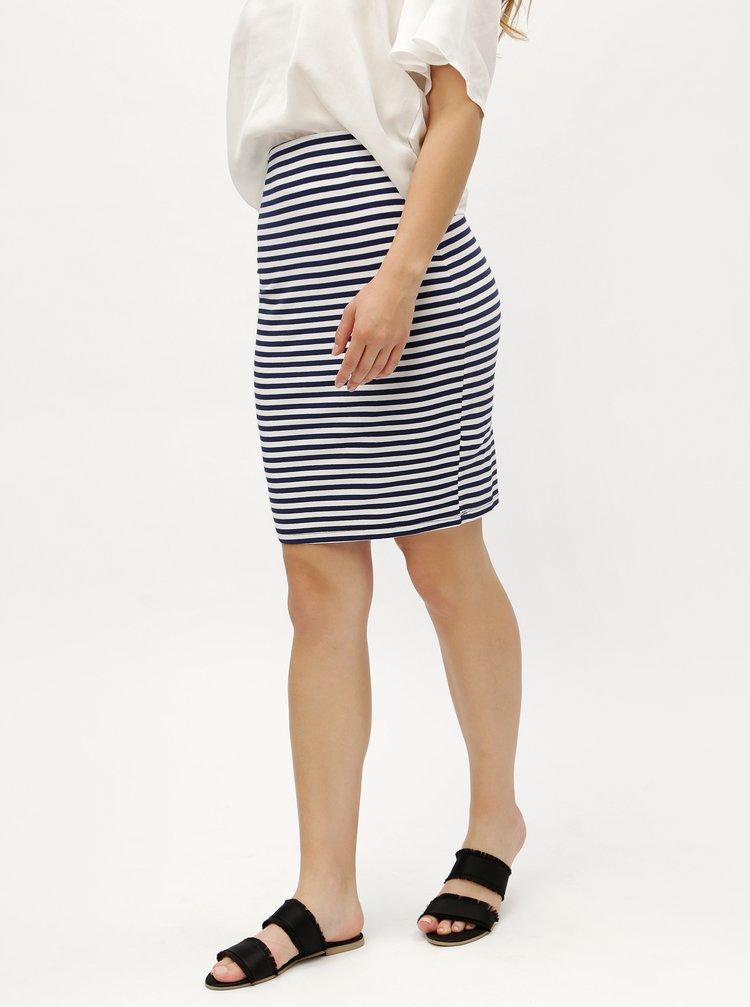 Modro-bílá sukně s jemným proužkem ZOOT