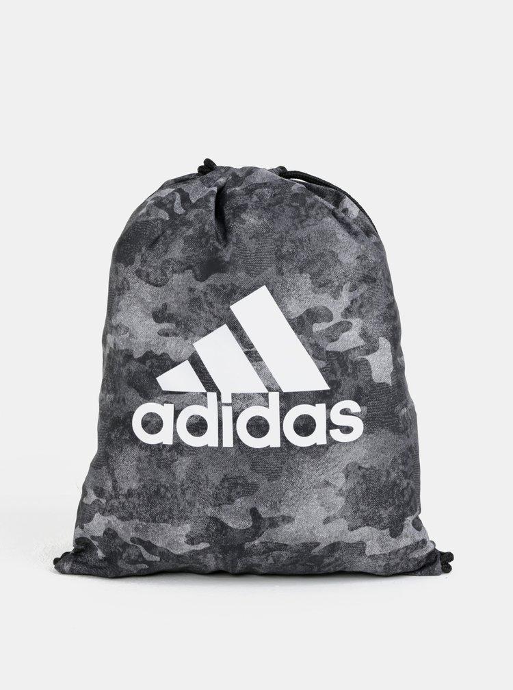 Šedý maskáčový vak s logem adidas Performance