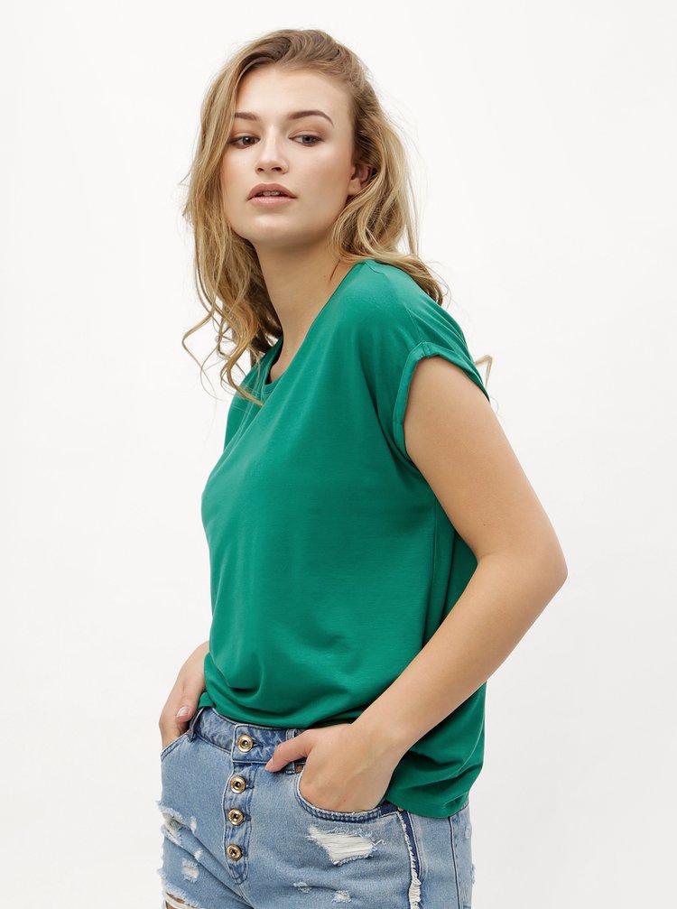 Tmavě zelené oversize tričko VERO MODA Ava
