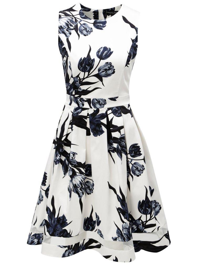 Rochie albastru-alb cu model floral Dorothy Perkins
