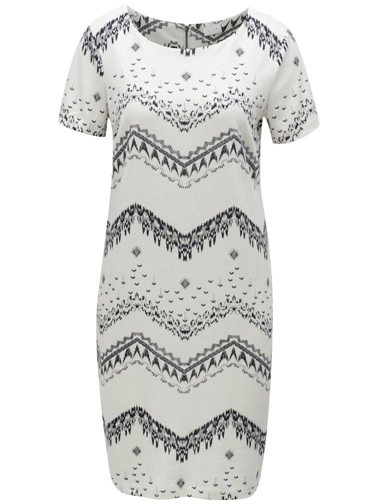 Bílé vzorované šaty s krátkým rukávem VILA Tinny