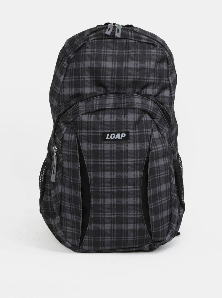 Sivo-čierny vzorovaný batoh LOAP Asso 20 l