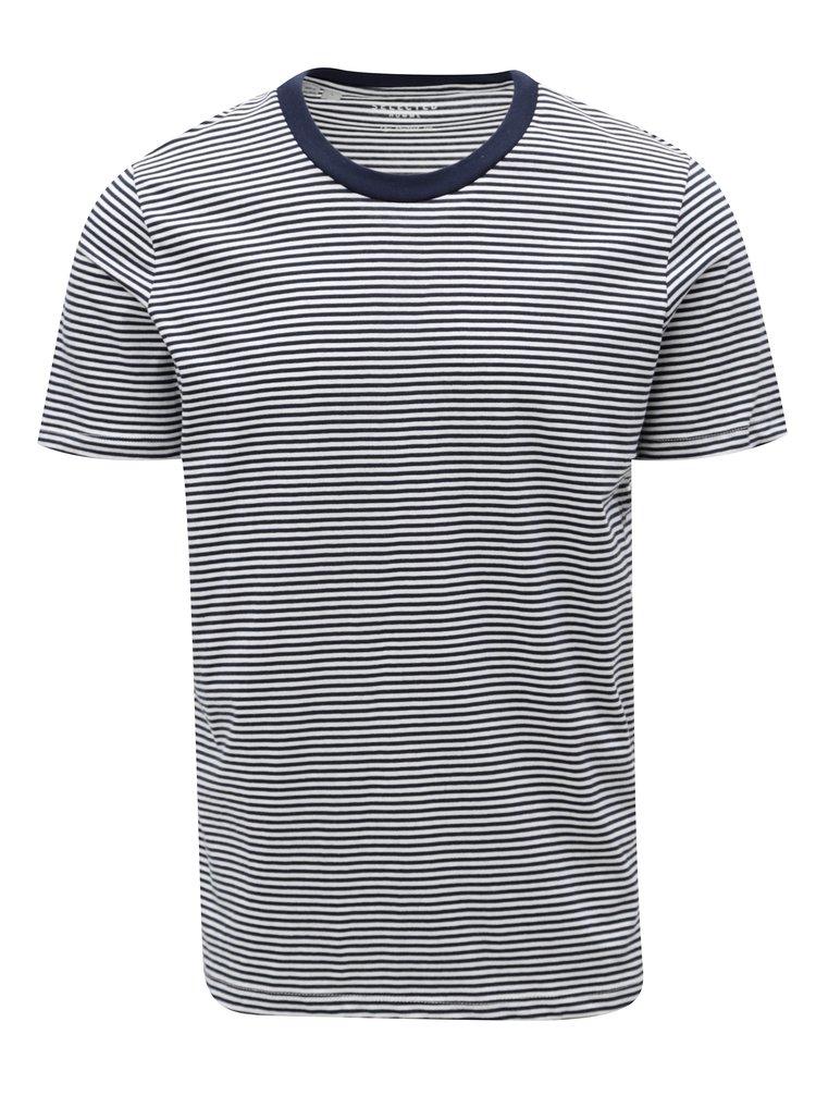 Bílo-modré pruhované tričko Selected Homme Stripe