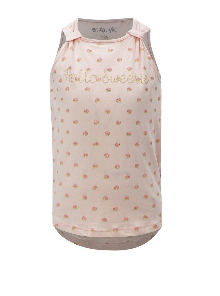Růžové holčičí tílko s třpytivým potiskem 5.10.15.