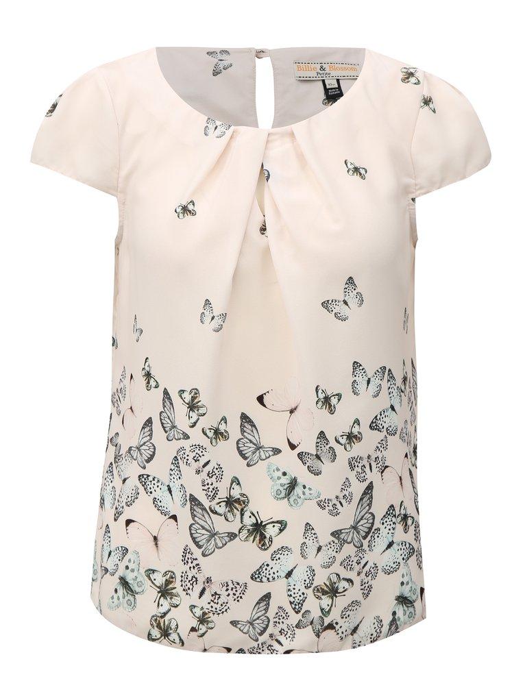 Růžová halenka s motivem motýlů Billie & Blossom Petite