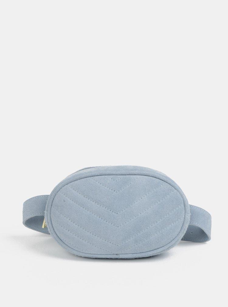 Borseta albastru deschis din piele intoarsa ZOOT