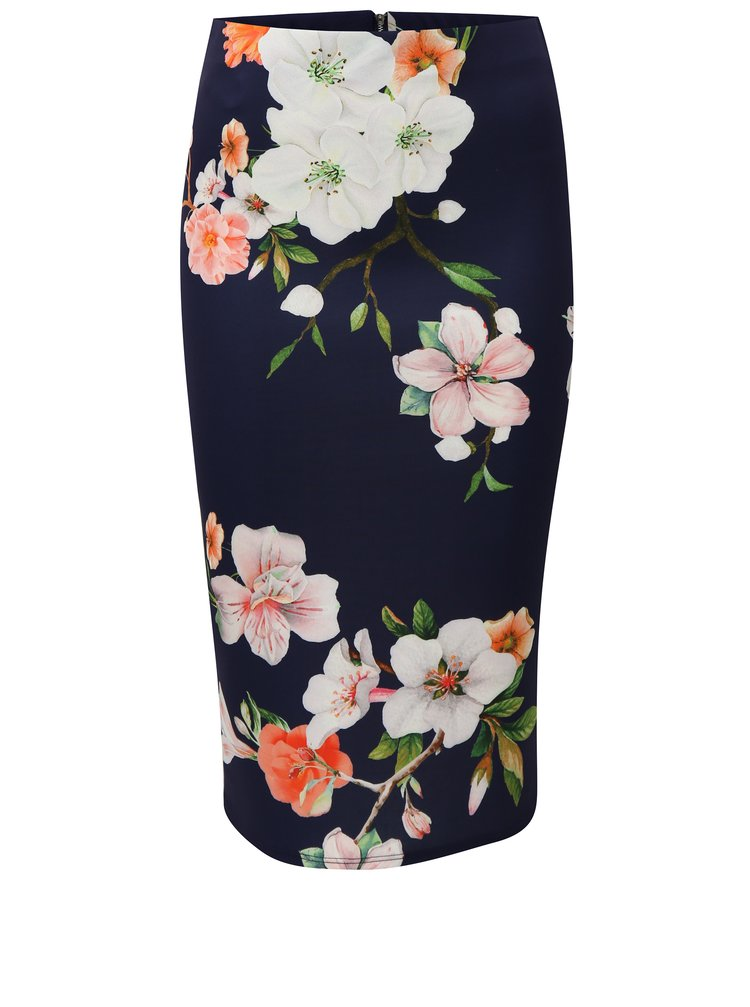 Modrá vzorovaná pouzdrová sukně Dorothy Perkins