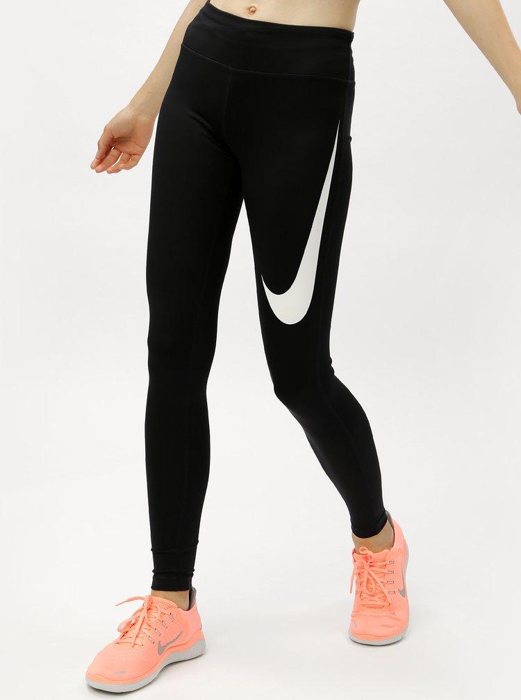 Černé dámské funkční legíny s kapsami Nike
