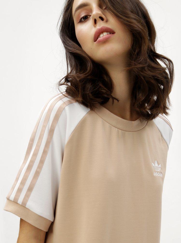 Béžové dámské šaty adidas Originals · Béžové dámské šaty adidas Originals 5fbfac2174