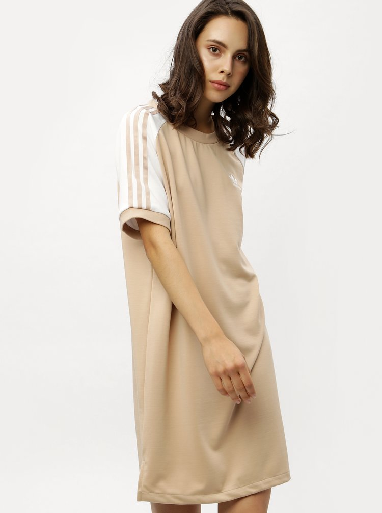 205ffaca56 ... Béžové dámské šaty adidas Originals