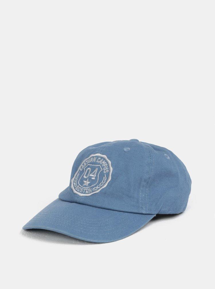Modrá kšiltovka s výšivkou Burton Menswear London