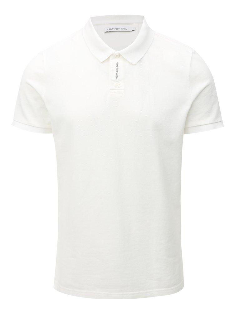 Bílé pánské polo tričko s potiskem Calvin Klein Jeans