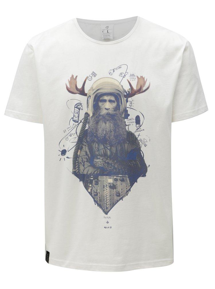 Bílé pánské tričko s potiskem WOOX Veteranus Fortis Alba