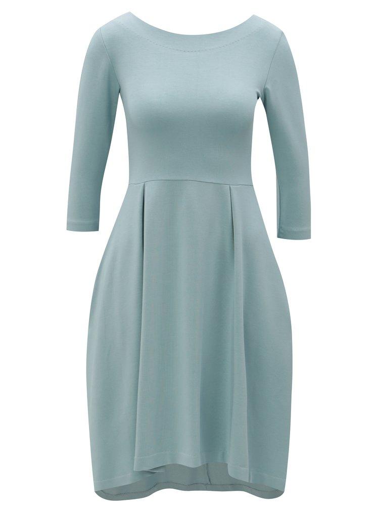 Rochie albastru deschis cu buzunare - miestni