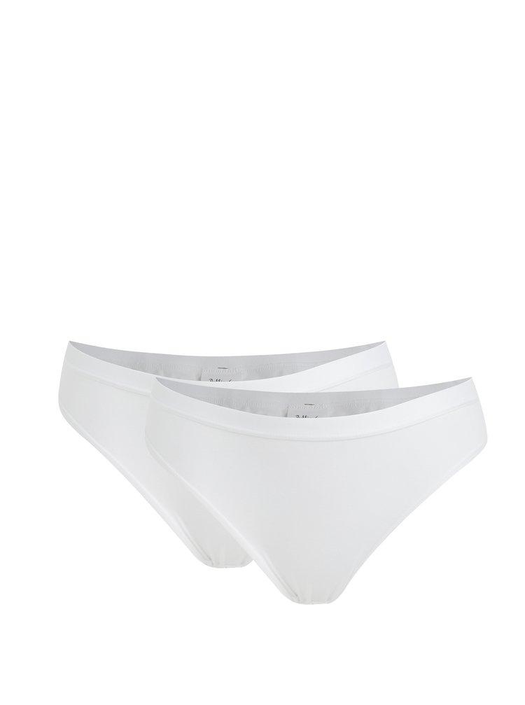Súprava dvoch bielych bavlnených nohavičiek Bellinda