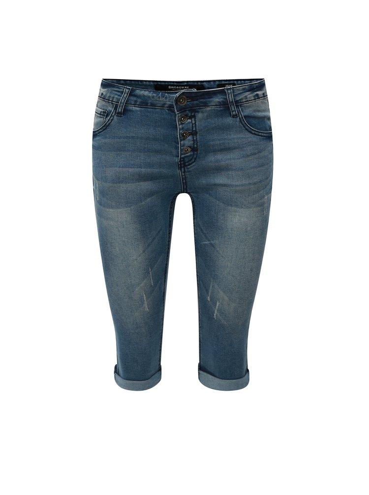 Pantaloni de dama scurti albastri skinny Broadway Darlena