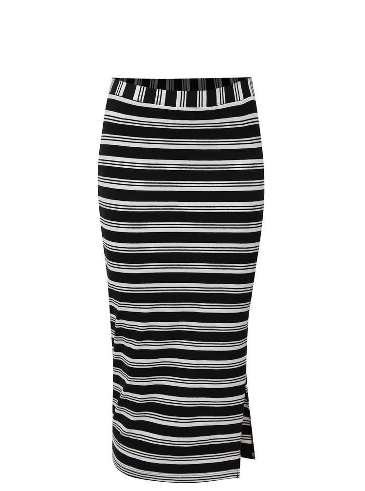Bílo-černá pruhovaná pouzdrová sukně Broadway Debra