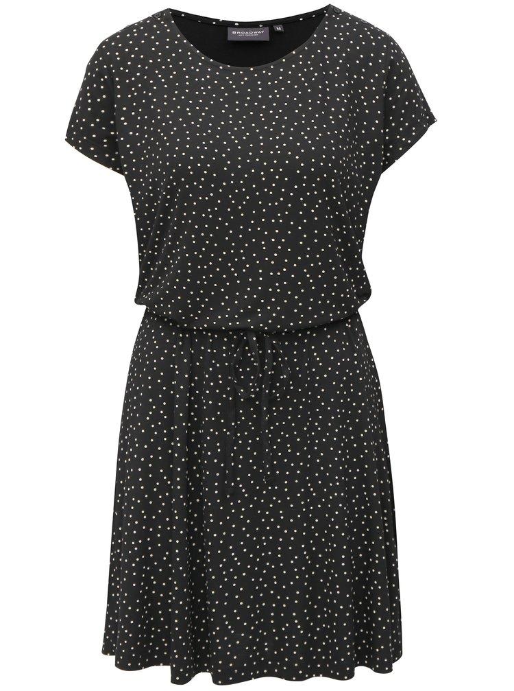 Černé puntíkované šaty Broadway Deneen