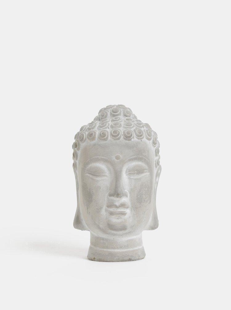 Bust gri din beton Buddha Dakls