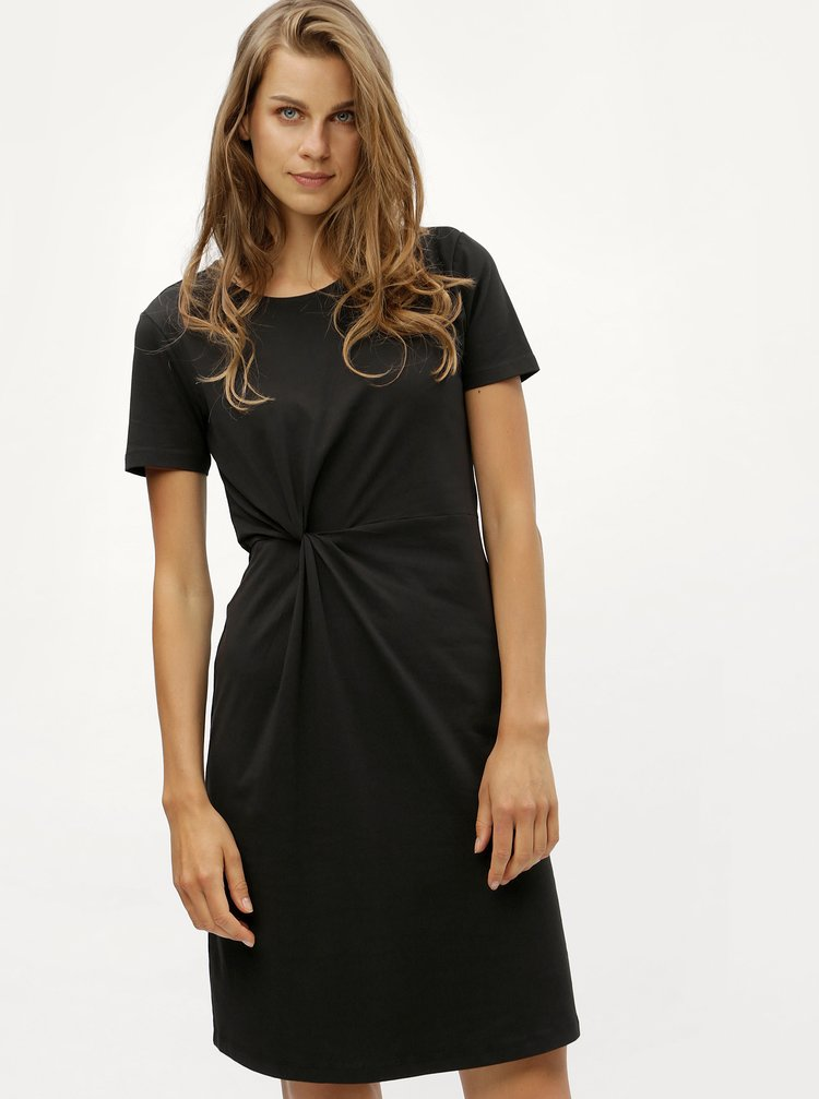 Černé šaty s uzlem Jacqueline de Yong Domino