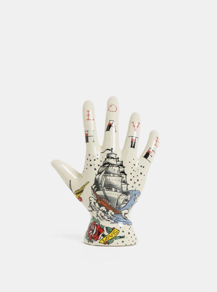 Krémový držák na prstýnky s mořským motivem Temerity Jones