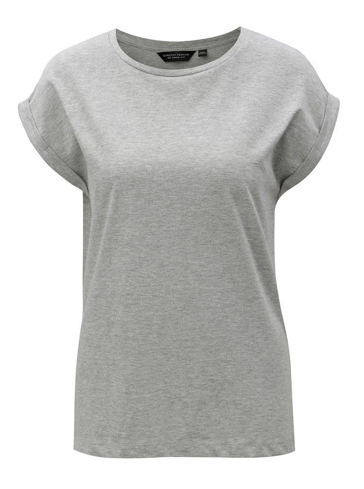 Sivé melírované tričko Dorothy Perkins