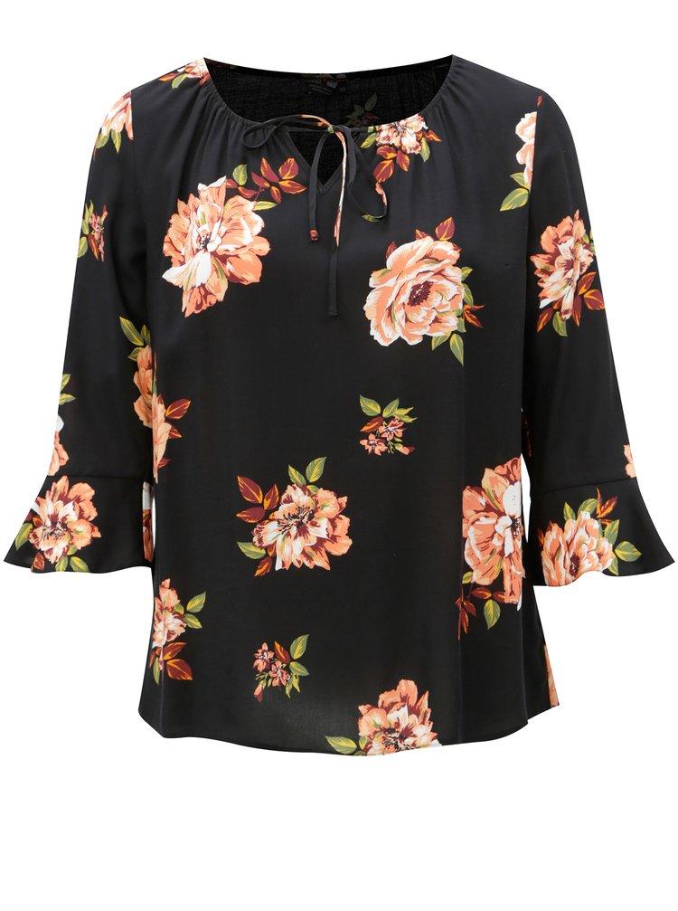 Bluza neagra cu maneci clopot Dorothy Perkins Curve