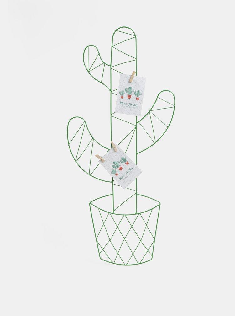 Zelený držák na fotky ve tvaru kaktusu SIFCON