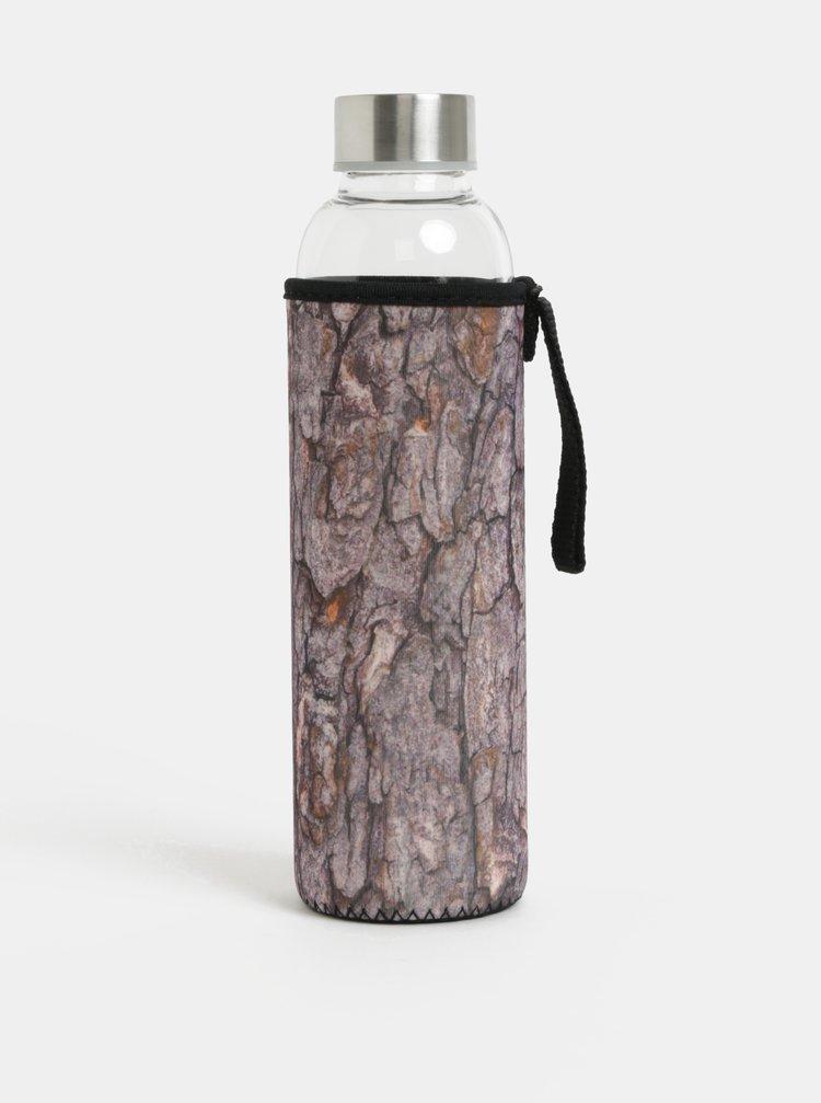 Skleněná lahev v hnědém termo obalu Kikkerland