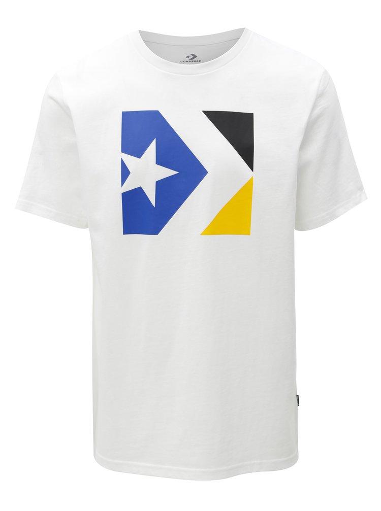 18b252d6079b ... Biele pánske tričko s potlačou Converse Chevron Tri Color