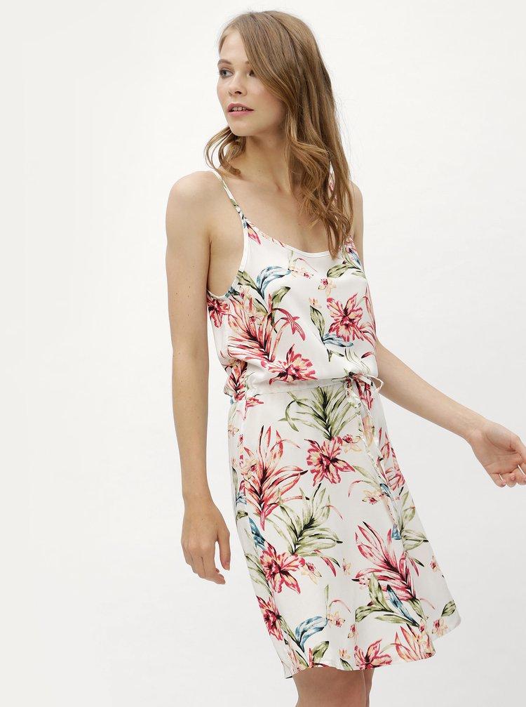 Bílé květované šaty se zavazováním Haily´s Tabea