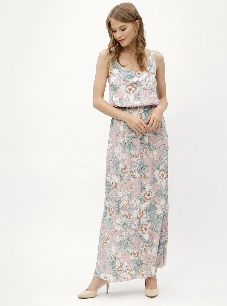 Růžové květované maxišaty na ramínka Haily´s Doris
