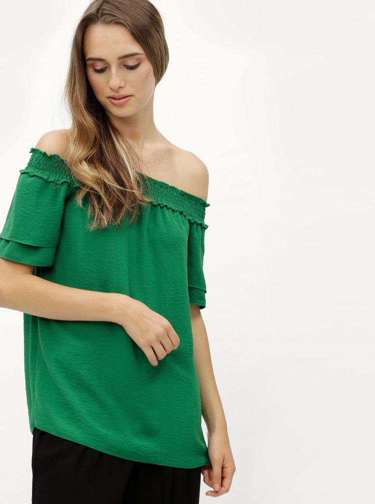 Zelená halenka s odhalenými rameny Dorothy Perkins Tall