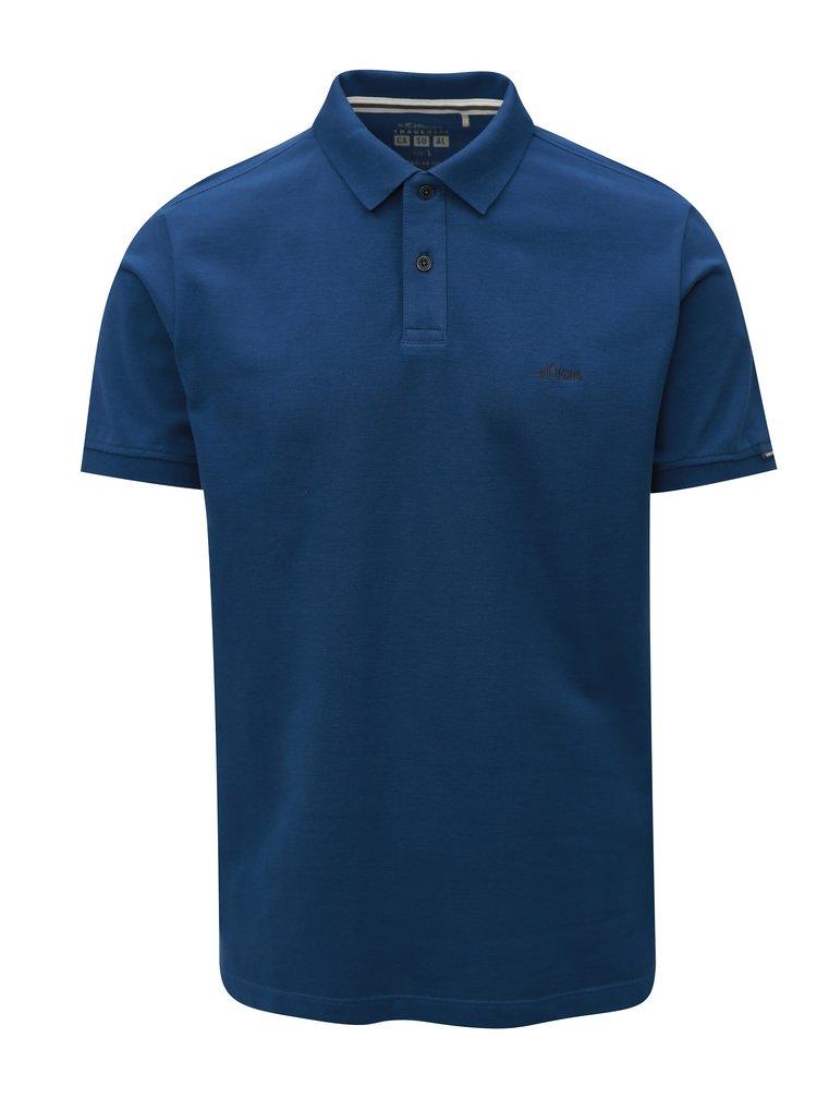 Tricou barbatesc polo albastru inchis regular fit s.Oliver