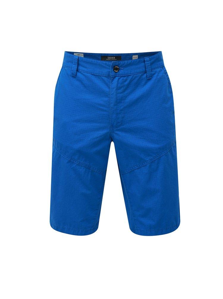 Pantaloni barbatesti scurti albastri straight s.Oliver
