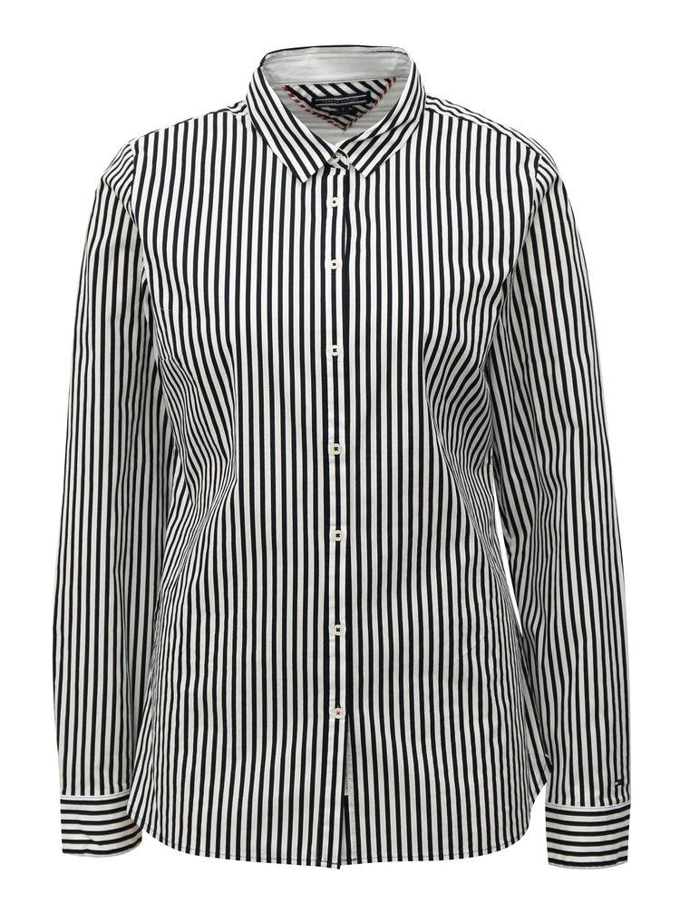 Čierno-biela dámska pruhovaná košeľa Tommy Hilfiger