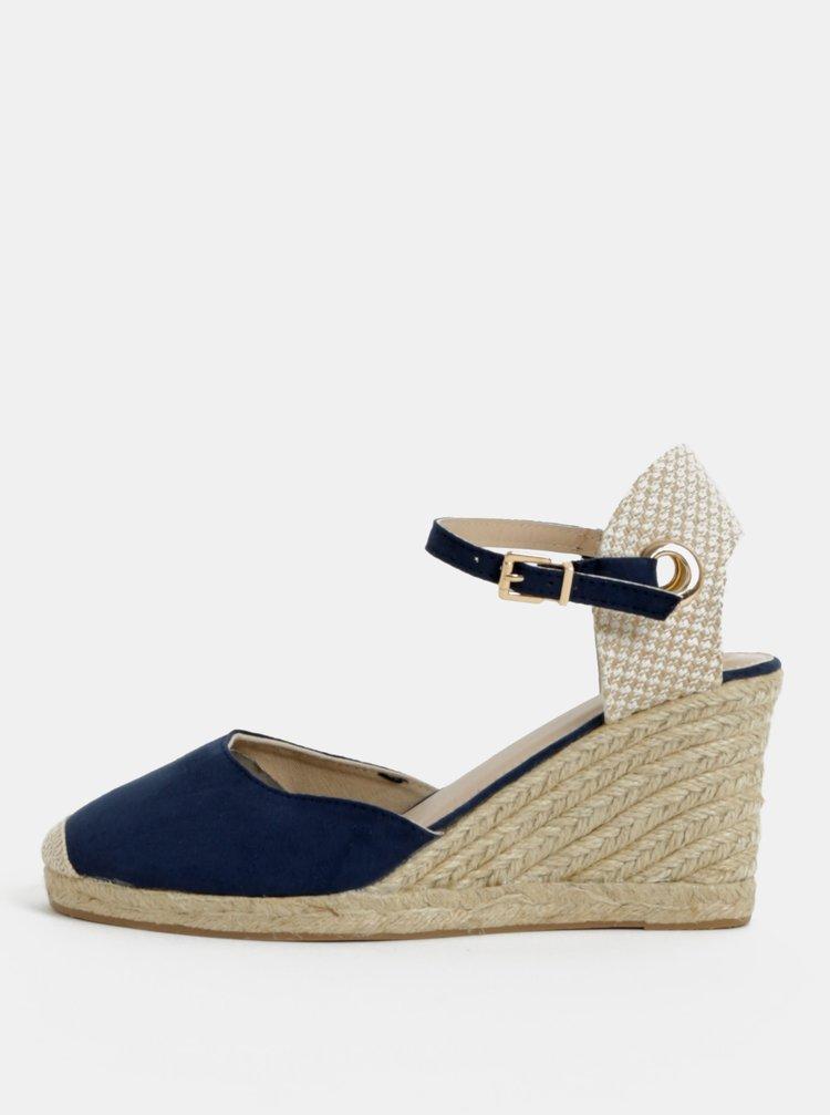 Béžovo-modré sandálky na klínku Dorothy Perkins