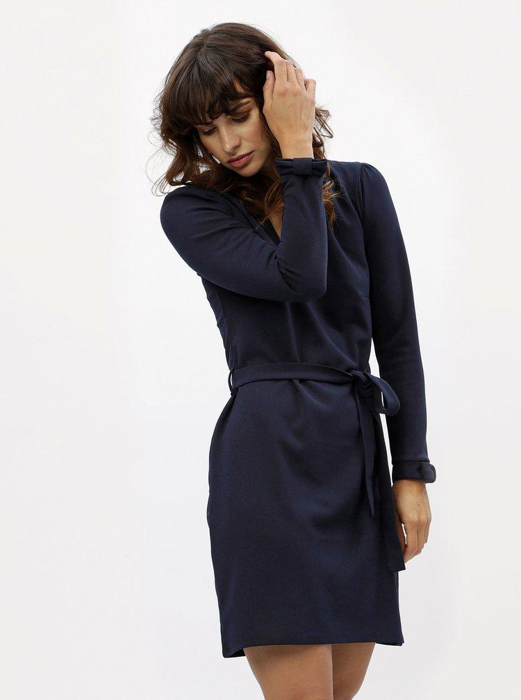 Tmavomodré šaty s dlhým rukávom Dorothy Perkins