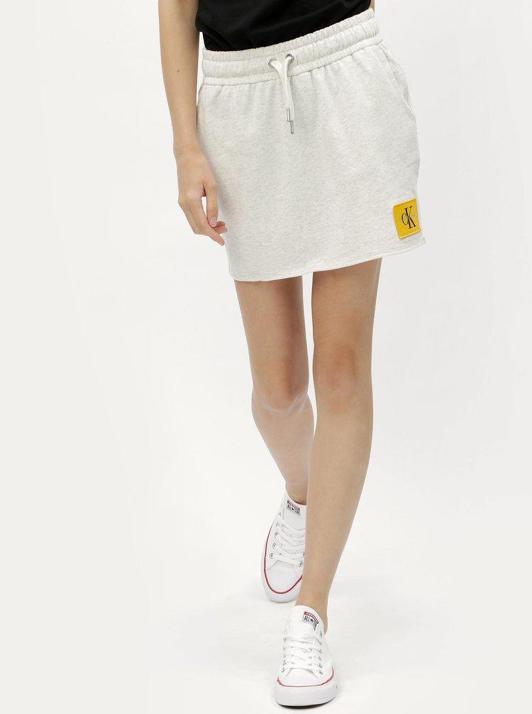 Šedá mikinová sukně s nášivkou Calvin Klein Jeans Kildri