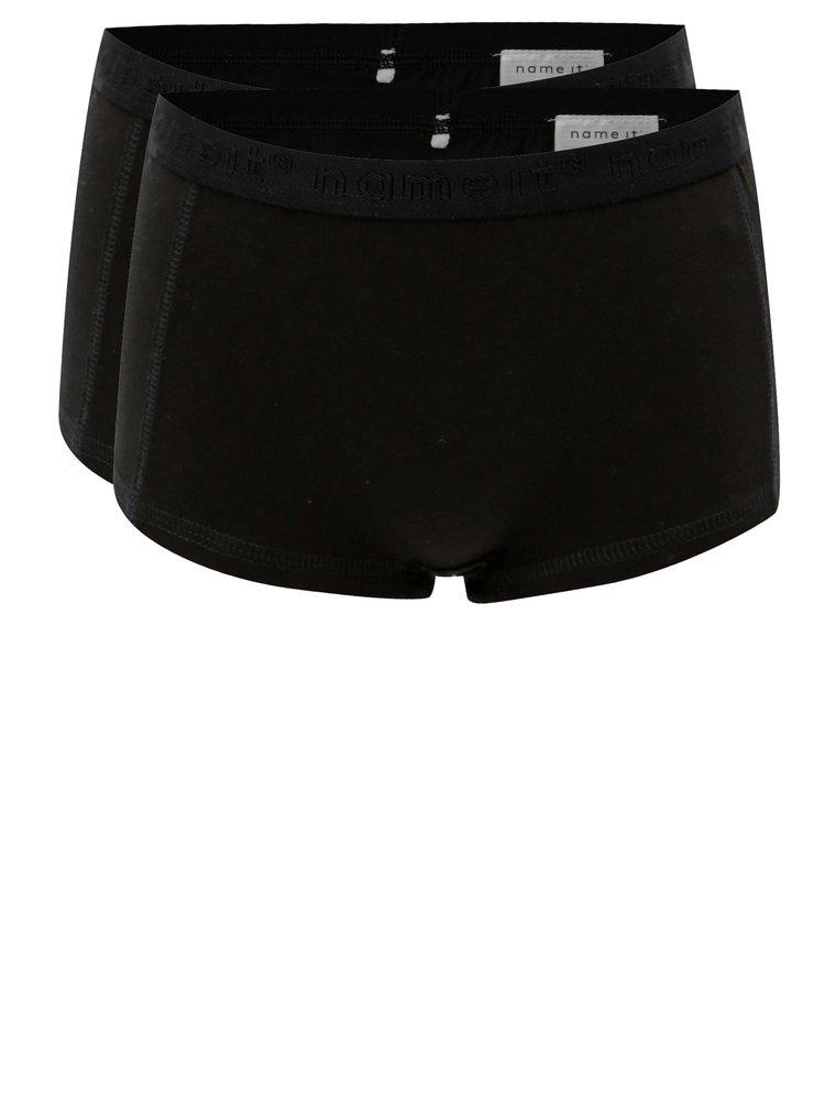 Sada dvou holčičích kalhotek v černé barvě Name it Hipster