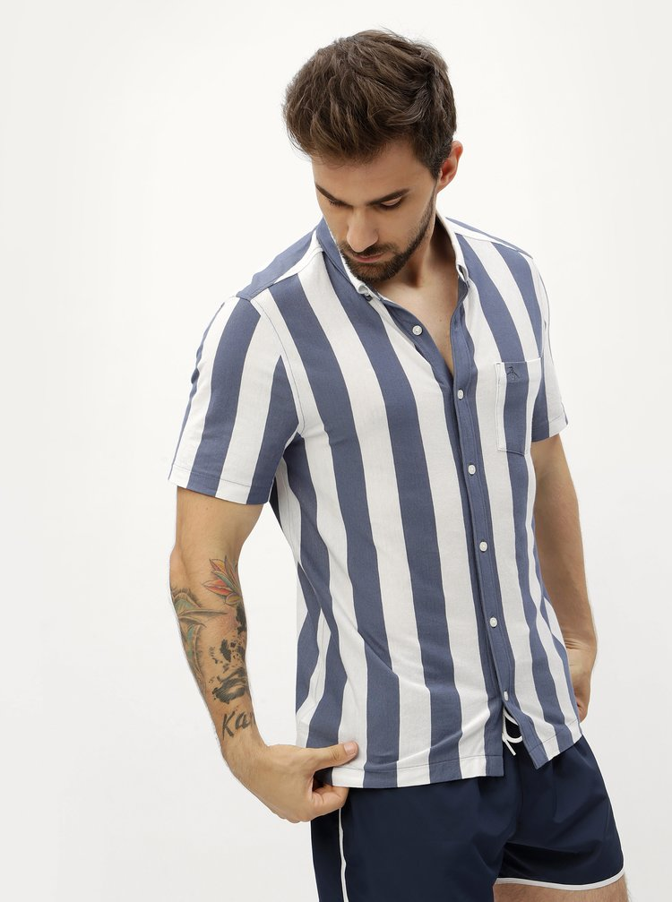 Modro-bílá pruhovaná košile Original Penguin