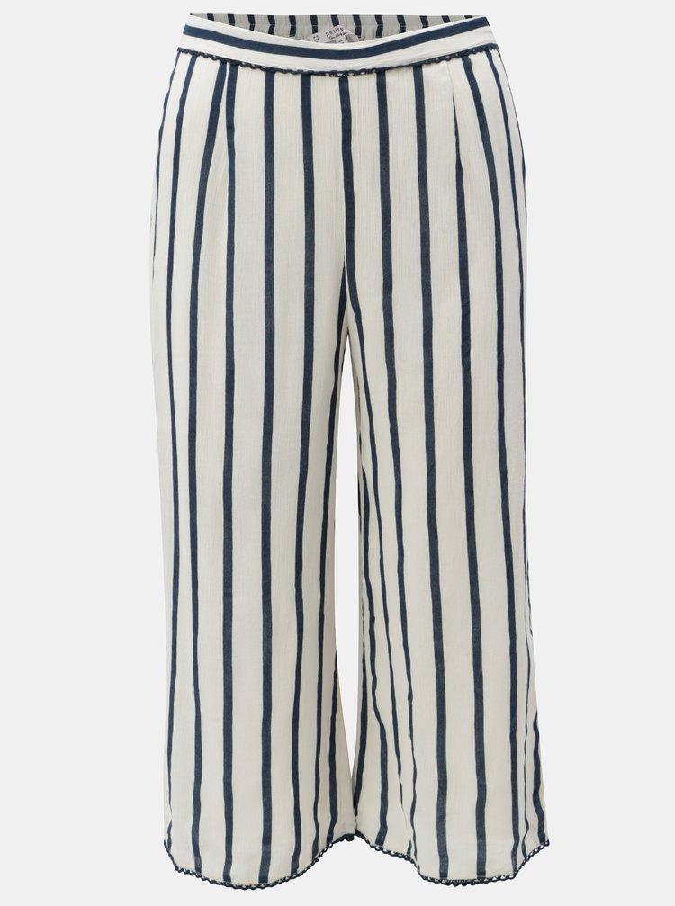 Pantaloni culottes cu dungi alb negru Miss Selfridge Petites