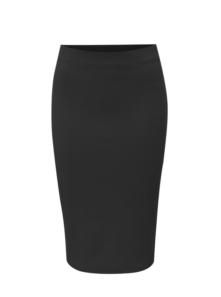 Černá pouzdrová žebrovaná sukně Dorothy Perkins