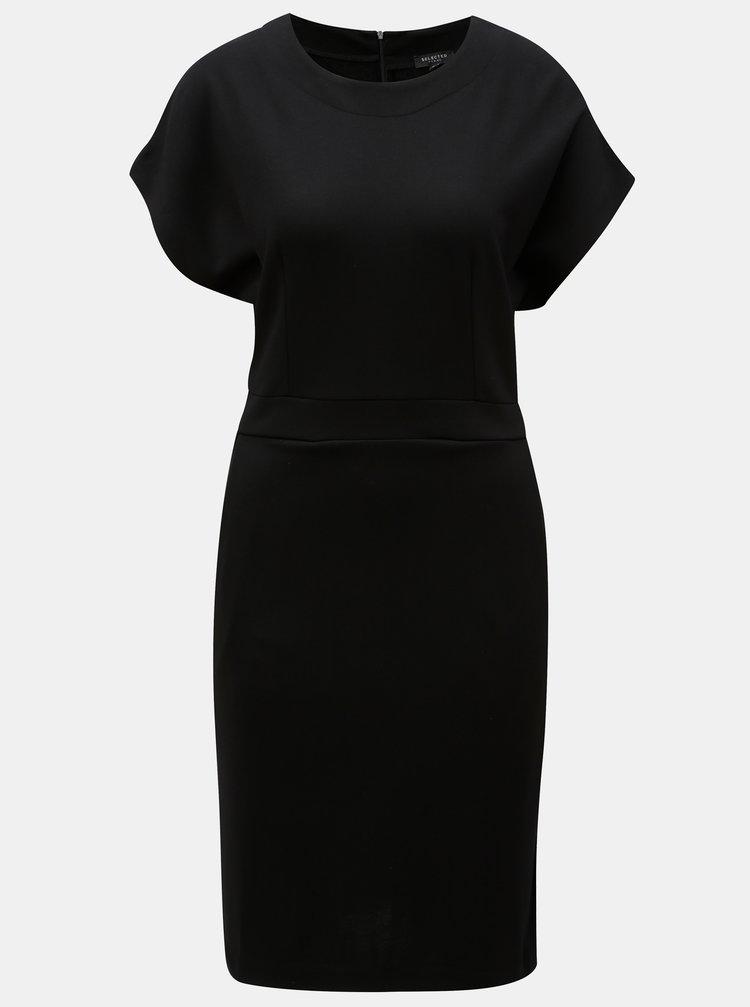 Černé volné šaty s kapsami Selected Femme Vella