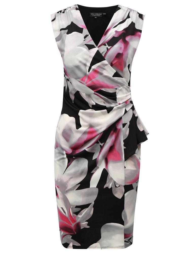 Černo-šedé vzorované pouzdrové šaty Billie & Blossom