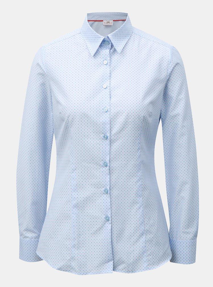 Světle modrá dámská košile s drobným vzorem VAVI