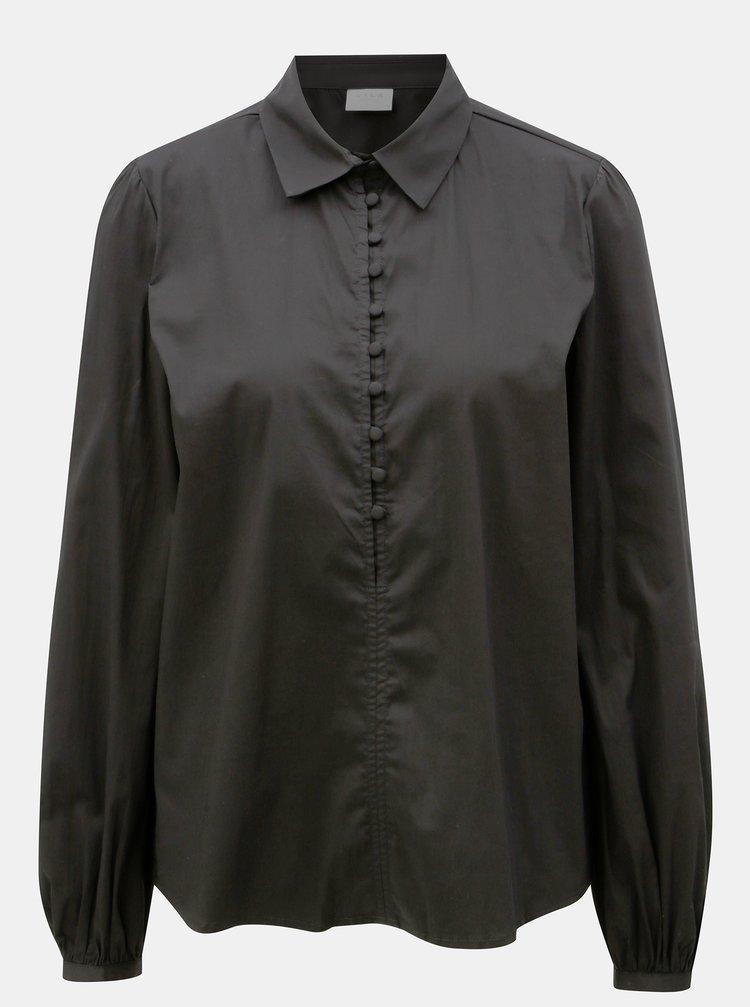 Černá košile VILA Placket
