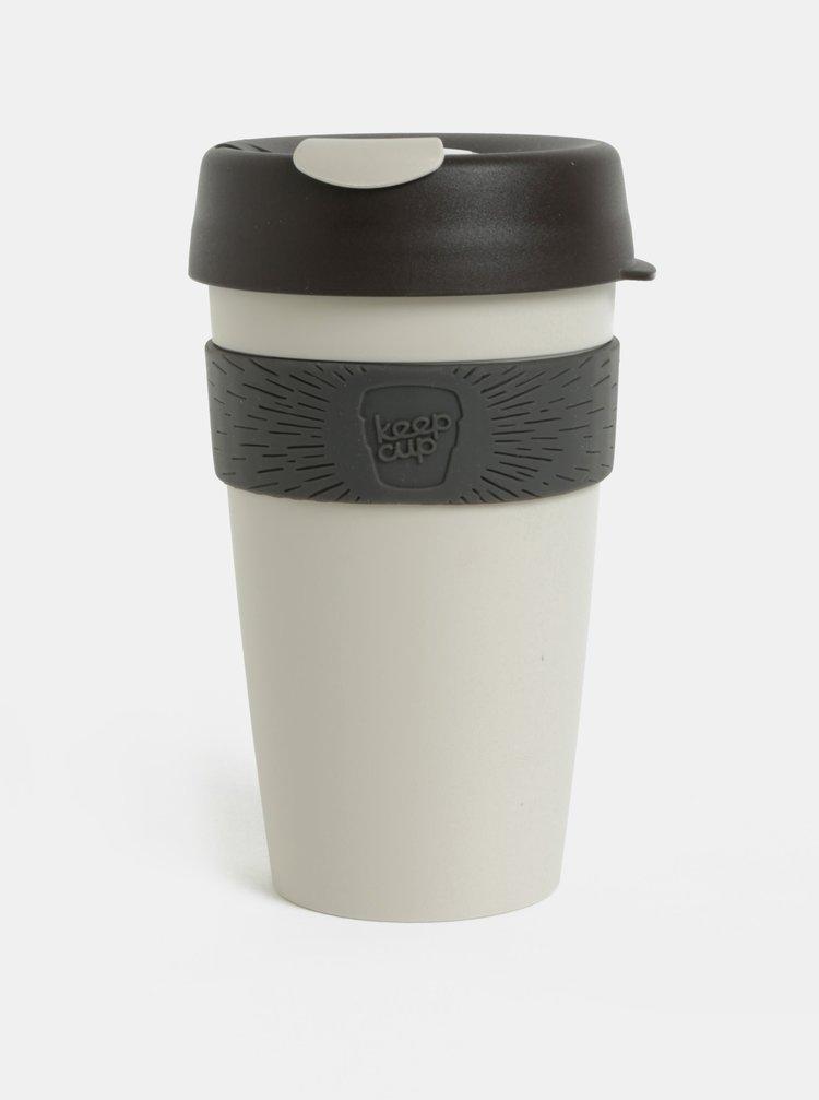 Hnědo-šedý cestovní hrnek KeepCup Original Large